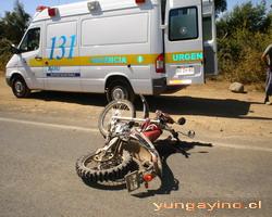Accidente Camino Yungay - Cholguán