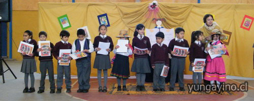 Acto en Escuela Fernando Baquedano ¡Mamá, Papá Aprendí a Leer¡