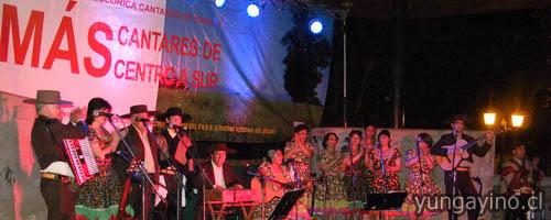 YUNGAYINO.CL - Agrupación Folclórica Cantares de Yungay Realizo Exitosa Presentación