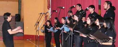 Coro Juvenil Comunal de San Pedro de La Paz se Presento en Yungay
