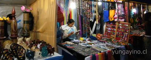 Exposición de Feria Artesanal en Plaza de Yungay