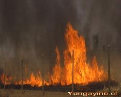 Incendio en Yungay