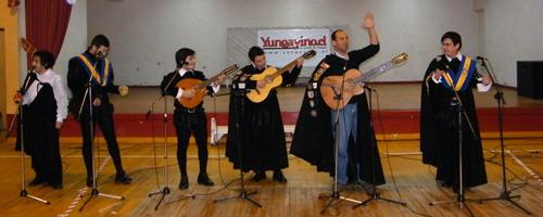 """""""Los Tunas"""" de la Universidad de Concepción, Sede Los Ángeles en Yungay"""