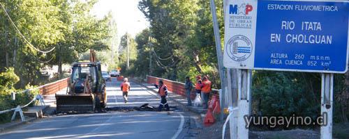 Reparación en Puente Cholguán Mantendrá Cortado Tránsito por el día entre Yungay y Cholguán