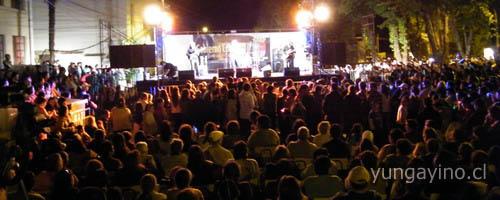 Gran Show al Aire Libre en Yungay