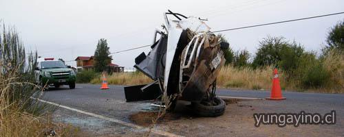 Grave Volcamiento Vehicular en Cholguán