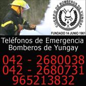 Teléfonos de Emergencia Bomberos de Yungay
