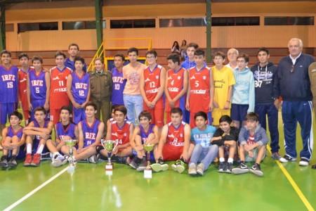 """Final Interregional de Básquetbol """"Trofeo Carabineros de Chile"""" se Disputó en Yungay"""