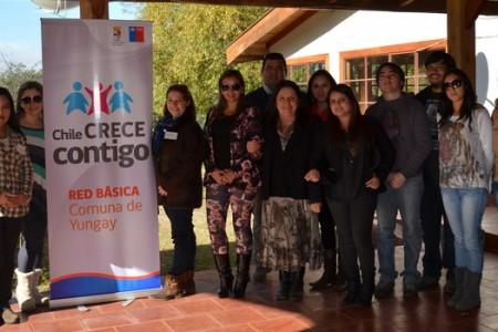 """Profesionales de la Red Comunal de Yungay """"Chile Crece Contigo"""" se Capacitaron"""