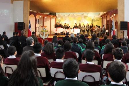 """Liceo A-17 de Yungay Rindió Homenaje en """"Día de las Glorias Navales"""""""