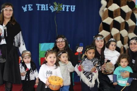 """Niños del Jardín Infantil """"Campanita"""" de Campanario Celebran Junto a su Familias el Año Nuevo Mapuche"""