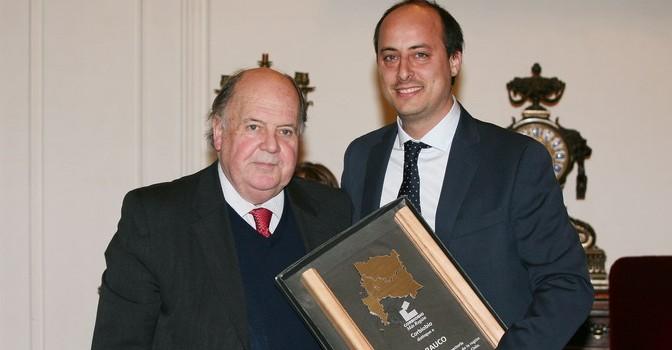 Jorge Porter, presidente Corbiobio, y Patricio Eyzaguirre, subgerente de Asuntos Publicos de ARAUCO