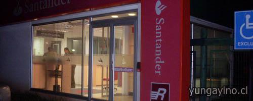 Intentaron robar cajero autom tico de la sucursal del for Cajeros automaticos banco santander