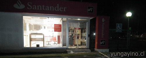 Robo en cajero autom tico de la sucursal del banco for Cajeros automaticos banco santander