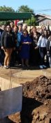 Instalan Primera Piedra de Gimnasio Polideportivo Municipal Para Yungay