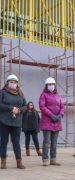 Alcalde y Concejales Realizan Visita a Las Obras de Construcción del Nuevo Gimnasio Polideportivo de Yungay